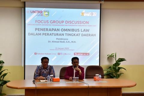 Untar Suguhkan Diskusi Bertema Omnibus Law