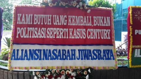 Kementerian BUMN Dibanjiri Karangan Bunga Minta Usut Tuntas Jiwasraya