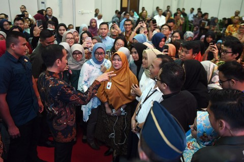 Jokowi Tinjau Integrated Digital Work di Bappenas