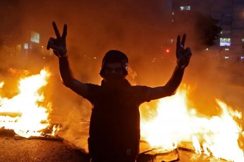 Aksi Protes Damai di Lebanon Berubah Jadi Kerusuhan