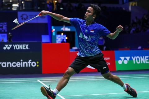 Indonesia Masters 2020: Menangi Perang Saudara, Ginting Tembus Perempat Final