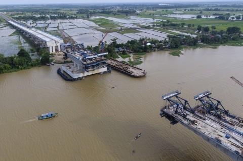 Proyek Pembangunan Tol Kapal Betung Terus Dikebut