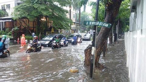 Sejumlah Ruas Jalan di Jabodetabek Tergenang