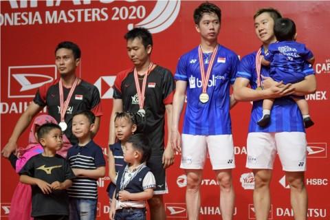 Menang Cepat di Final, Marcus/Kevin Tetap Kerepotan Hadapi Ahsan/Hendra