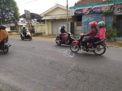 Mobil Patroli Polisi Tabrak Empat Pengendara Motor
