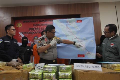 Penyelundupan 70 Kg Sabu dalam Kemasan Ikan Asin Digagalkan
