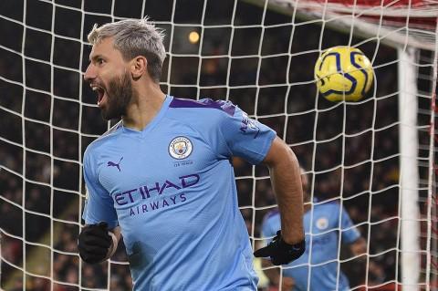 Gol Tunggal Aguero Bawa Man City Menang Atas Sheffield
