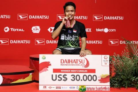 PBSI Sebut Gelar Indonesia Masters Melebihi Target
