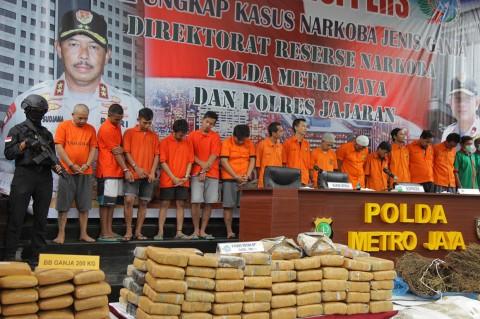 Polda Metro Jaya Sita 1,343 Ton Ganja
