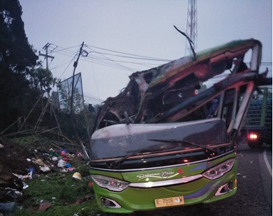 Kecelakaan Bus di Subang Disebabkan Modifikasi Rem