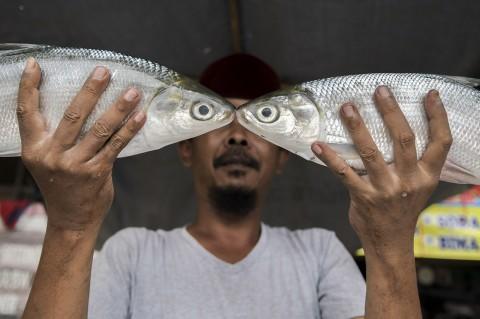 Jelang Imlek, Penjual Bandeng Menjamur di Rawa Belong
