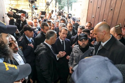 Macron Marah saat Wilayah Historis Prancis Diterobos Polisi Israel