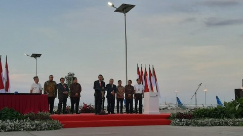 Jokowi Resmikan Runway 3 Bandara Soekarno-Hatta