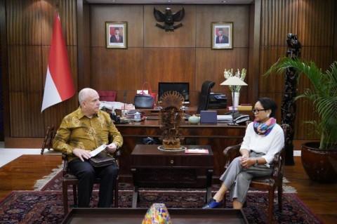 FM Retno Receives Farewell Call from US Ambassador
