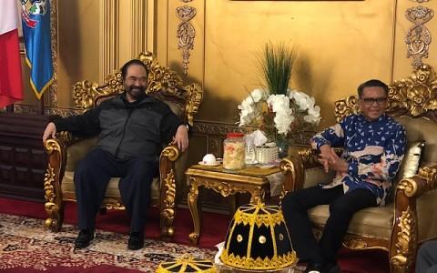 Surya Paloh dan Gubernur Sulsel Saling Lempar Pujian