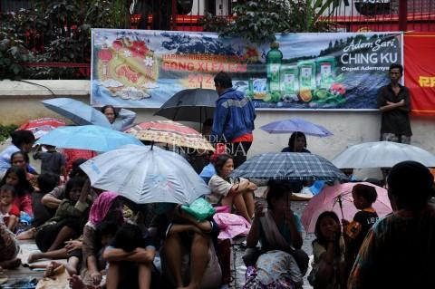Pengemis Mulai Padati Wihara Dharma Bakti Jakarta