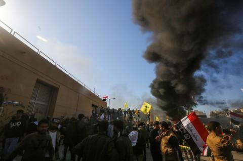 Tiga Roket Hantam Kedubes AS di Irak