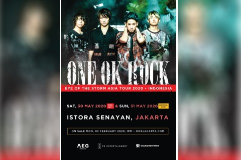 One OK Rock Tambah Jadwal Konser di Jakarta