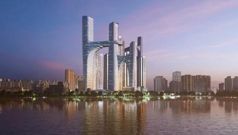 Desain Kompleks Modern di Shenzen