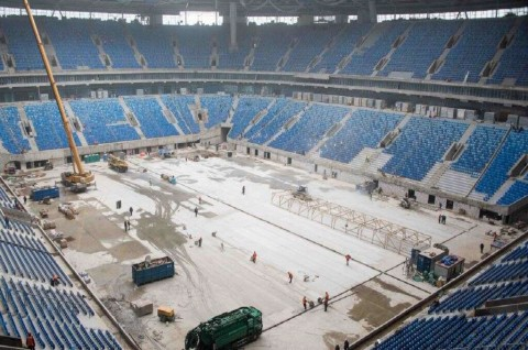 Pekerja Tewas Tertimpa Reruntuhan Stadion di Rusia