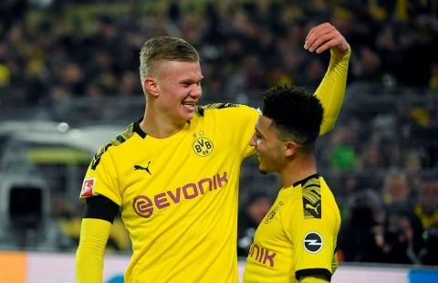 Bantu Dortmund Menang, Haaland dan Sancho Ukir Rekor