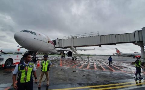 Pesawat Penjemput WNI di Wuhan Disterilisasi