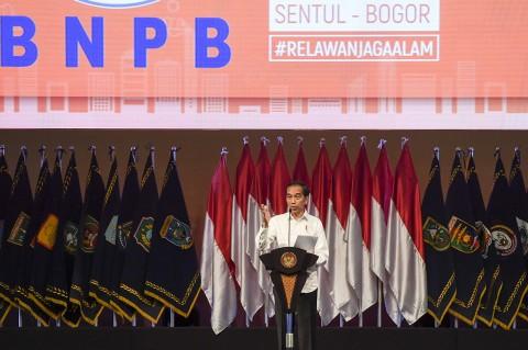 Hadiri Rakornas BNPB, Jokowi Sampaikan 5 Solusi Penanggulangan Bencana