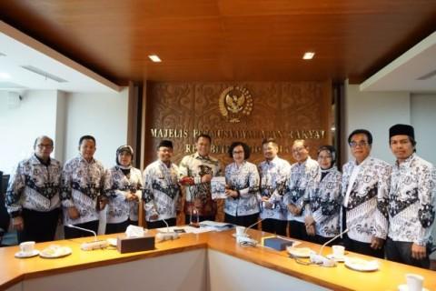 Sowan ke MPR, PGRI Perjuangkan Gaji Honorer Setara UMR