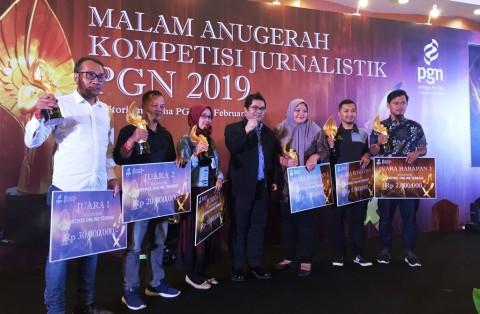 PGN Umumkan Pemenang Kompetisi Jurnalistik PGN 2019