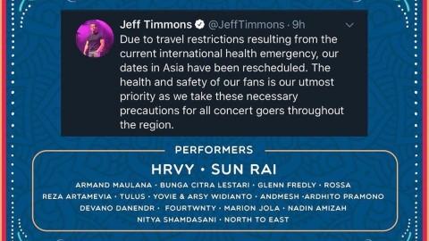 Waspada Virus Korona, 98 Degrees Batal Konser di Indonesia