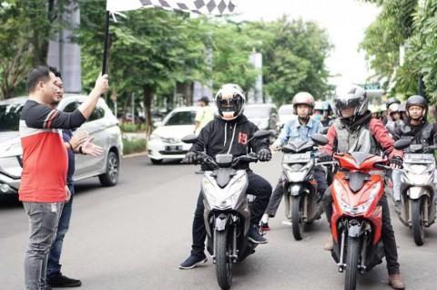 Ratusan Pecinta Honda BeAT Meriahkan City Rolling di Bekasi