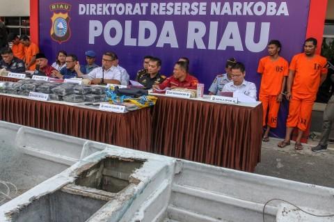 Penyelundupan 35 Kg Sabu Asal Malaysia Digagalkan
