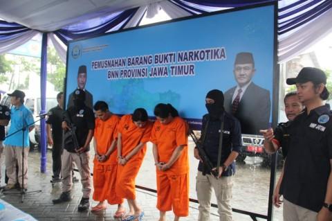 8,1 Kg Sabu Asal Malaysia Dimusnahkan