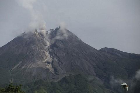 Lima Kali Gempa Guguran Terjadi di Merapi
