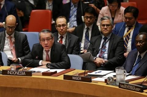 Pertemuan Palestina di DK PBB Tegaskan Solusi Dua Negara