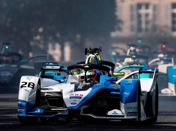 Ilustrasi gelaran Formula E. Foto: AFP/Kenzo Tribouillard