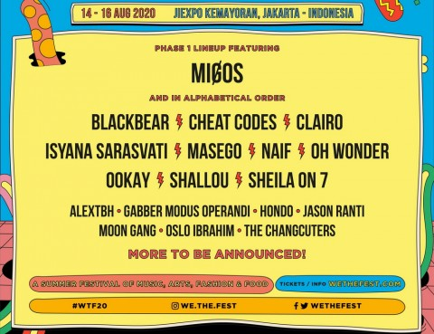 Migos dan Oh Wonder akan Tampil di We The Fest 2020 - Medcom.id