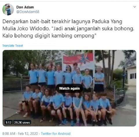 [Cek Fakta] Video Siswa Sekolah di Australia Sambut Kedatangan Jokowi dengan Lagu 'Abang Tukang Bakso'? Ini Faktanya