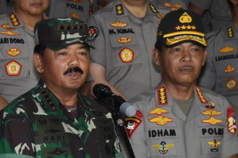 Panglima TNI dan Kapolri Bertolak ke Natuna