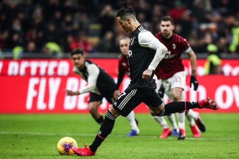 Penalti Ronaldo Gagalkan Kemenangan Milan Atas Juve