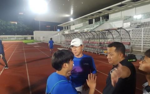 Latihan Perdana Timnas Senior Diisi Menu yang Ringan