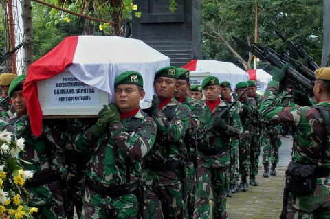4 Korban Helikopter Mi-17 Dimakamkan di TMP Giri Tunggal Semarang