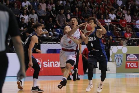 Timnas Bola Basket Indonesia Kalah dari Korea Selatan