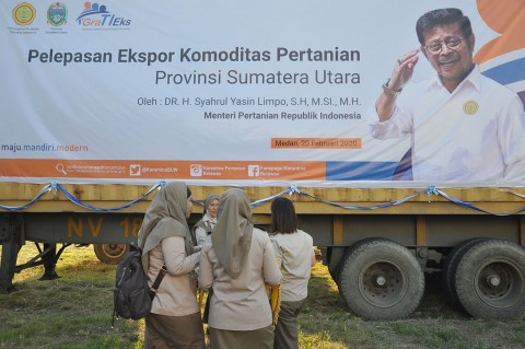 Mentan Lepas Ekspor Pertanian Sumut Senilai Rp79 Miliar