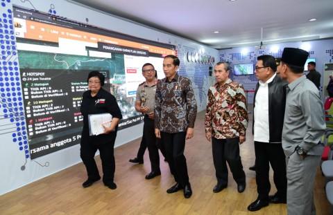 Jokowi Minta Pemda Riau Sigap Padamkan Titik Api