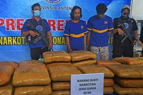 Polisi Gagalkan Penyelundupan 50 Kg Ganja dari Aceh