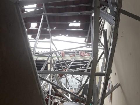 Atap SMKN 24 Jaktim Melengkung Usai Renovasi