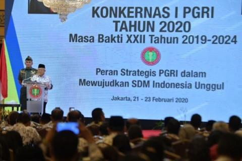 Wapres Minta PGRI Punya Program Peningkatan Kualitas Guru