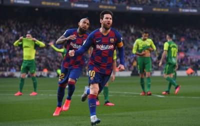 Hasil Pertandingan: Messi Mengamuk, Barcelona Sikat Eibar