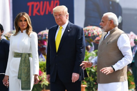 Disambut PM Modi, Presiden Trump Tiba di India